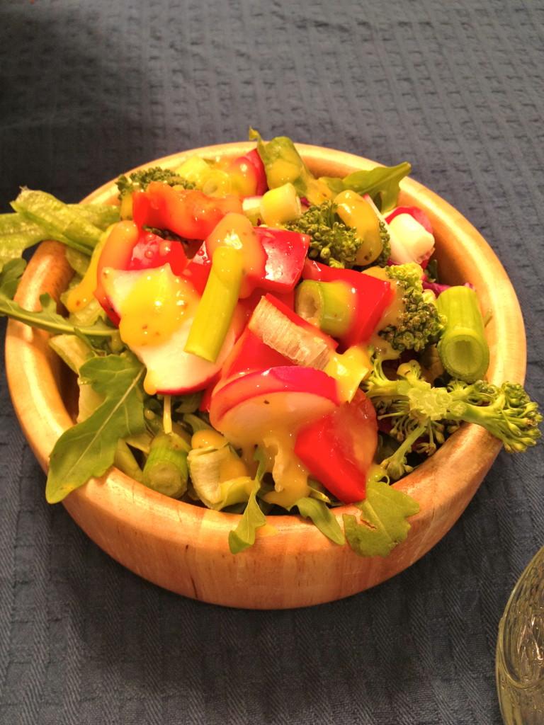 My salad with mango vinaigrette