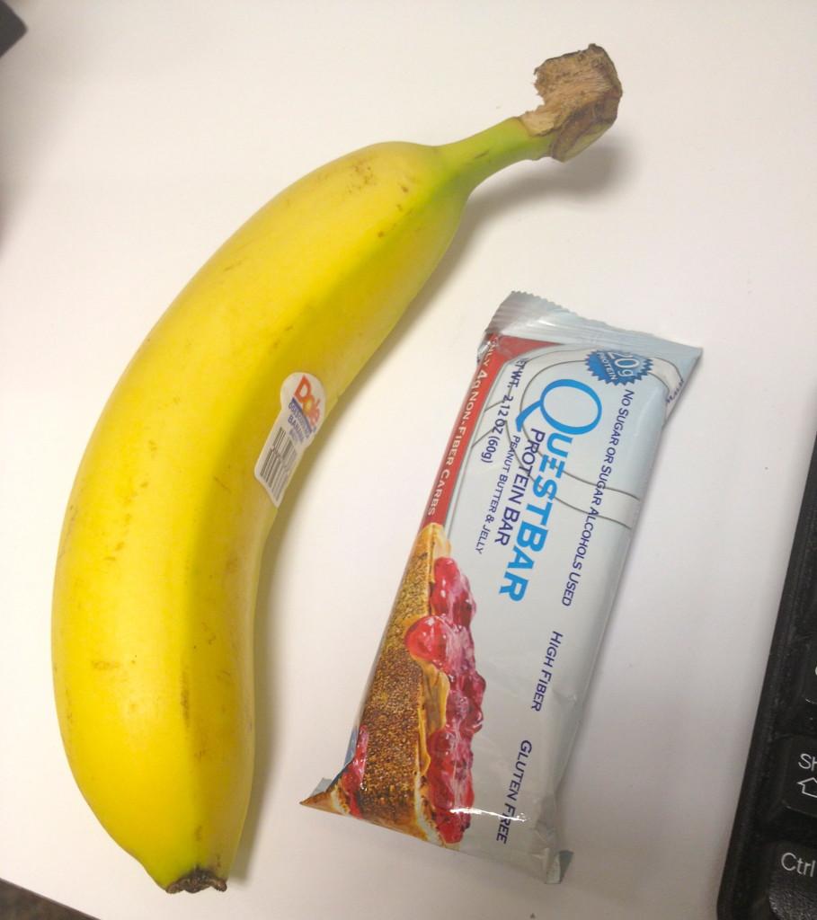 PB&J Quest bar and banana