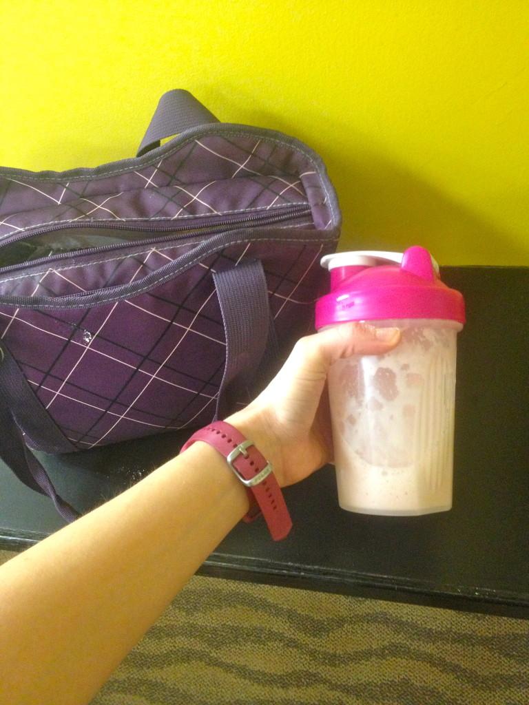 Protein shake post gym
