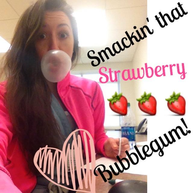 "Love that JT song ""strawberry bubblegum"""