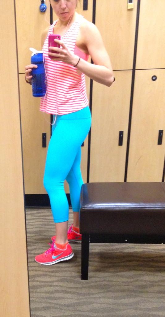 side blue pants