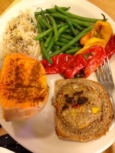 BIG healthy dinner. I needed it!