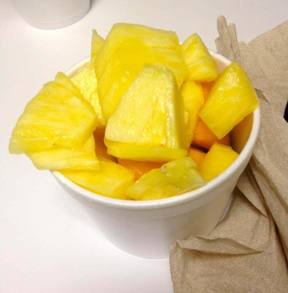 Pineapple, grapes, cantaloupe